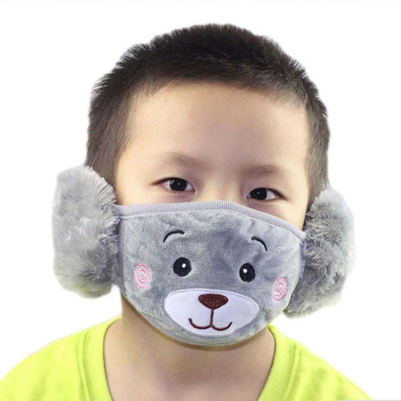 1pc Fashion Winter Cartoon Dust Winter Masks Ear Windproof Warm Face Mouth Child Cover Boy And Girl