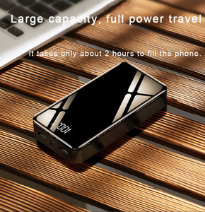 Image 5 - 20000 20000mah パワーバンク外部バッテリー 18650 PoverBank 2 USB LED Powerbank タイプ c ポータブル携帯電話の充電器 iPhone Xiaomi