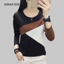 BOBOKATEER plus size t shirt women tshirt tops long sleeve t-shirt funny shirts camiseta blusas mujer de moda 2019
