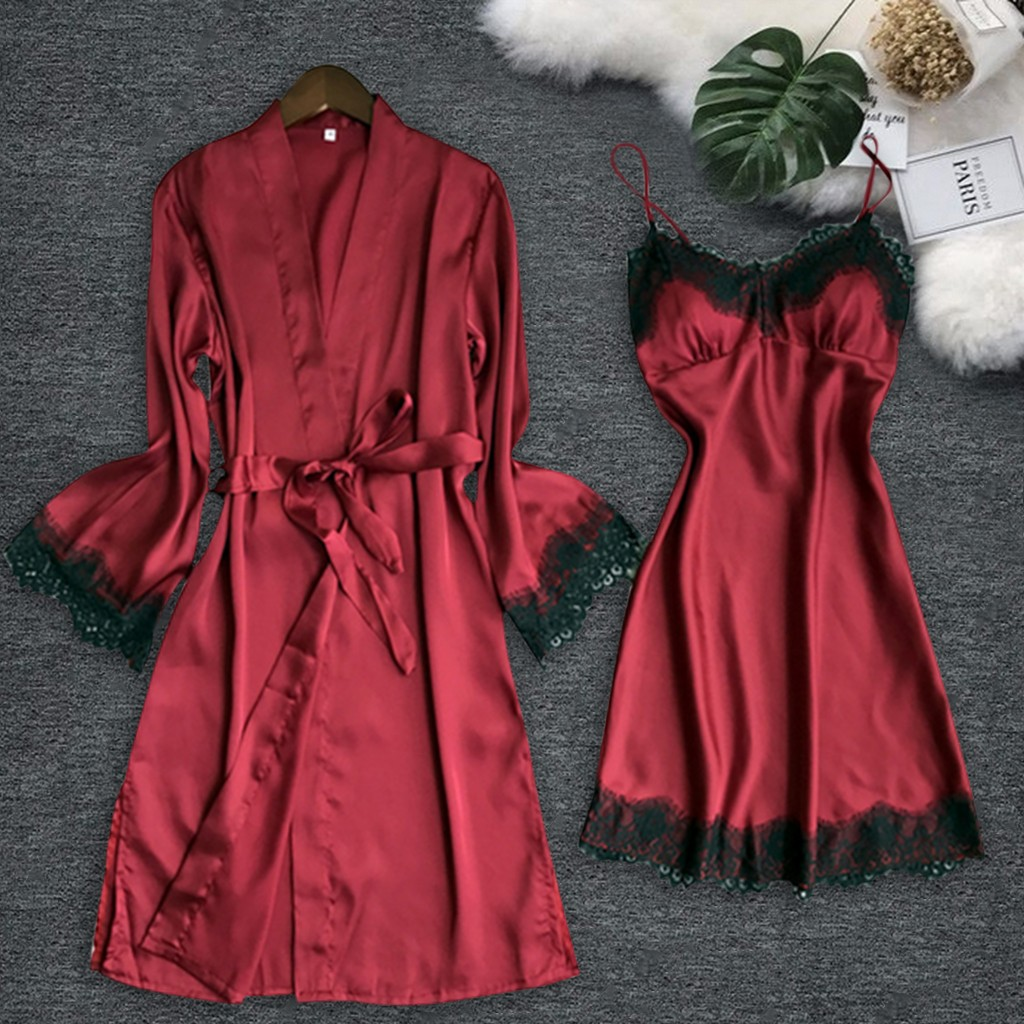Sexy Lingerie Pajamas For Women Kigurumi Home Clothes Nightie Plus Size Eyelash Lace V-neck Lace Details Pajamas Lenceria H4