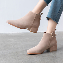 Plus Size 34-43 New Fashion Chelsea Boots Women Zipper Ankle Boot Genuine Leather Quality Brand Lady Shoes Handmade
