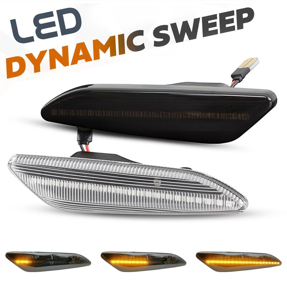 Светодиодсветодиодный динамические боковые габаритные огни, лампы указателей поворота со стрелками для Lancia Delta MK3 Ypsilon / Fiat Tipo / Chrysler Ypsilon, 2 шт...