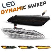 2 sztuk LED dynamiczne boczne światła sygnalizacyjne sygnał kierunkowskazu migacz lampy dla Lancia Delta MK3 Ypsilon / Fiat Tipo / Chrysler Ypsilon