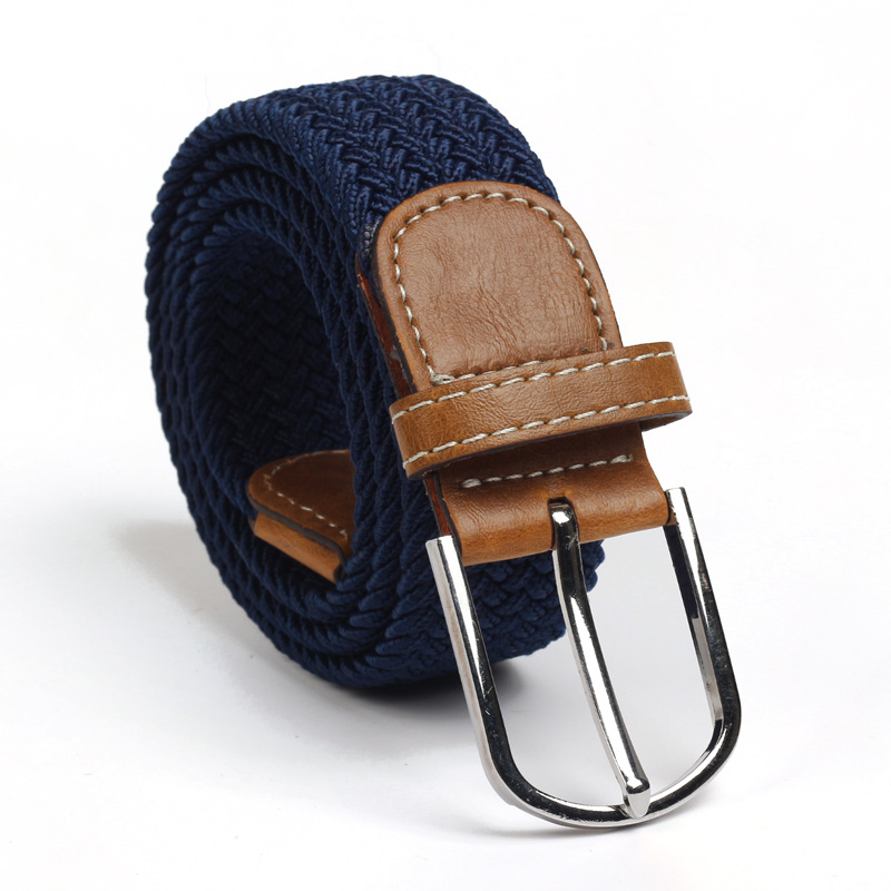 High Quality Fashionable Elastic Canvas Belts For Women Men Knitted Buckle Adjustable Belt Male Canvas Belts For Jeans