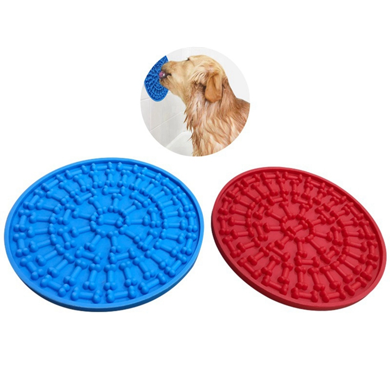 Slow Feeder Dog Bath Buddy Dog Lick Pad Pet Bath Products Transfer Plate Pet Bath Fixed Suction Silicone Cup Bowl Feeding Toy