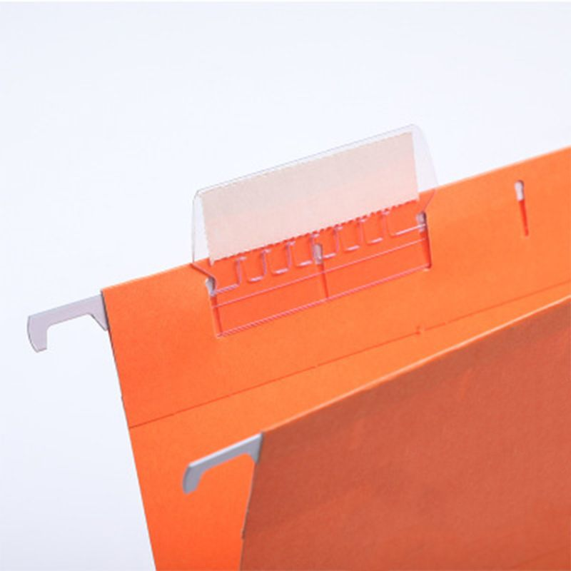 50Pcs Office Label Film Convenient Hanging Crafts Bendable File Index Durable PVC Professional Smooth Transparent