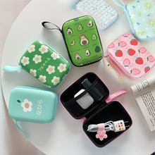 Storage bags cute For airpods Headphone Storage Case for iPhone USB Cable Earphone Earbud Accessories Storage Bag