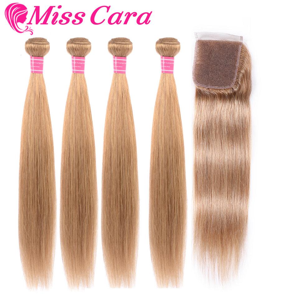 27#33#99J#Burgundy# Peruvian Straight Hair Bundles With Closure Miss Cara 100% Remy Human Hair 3 Bundles With Closure