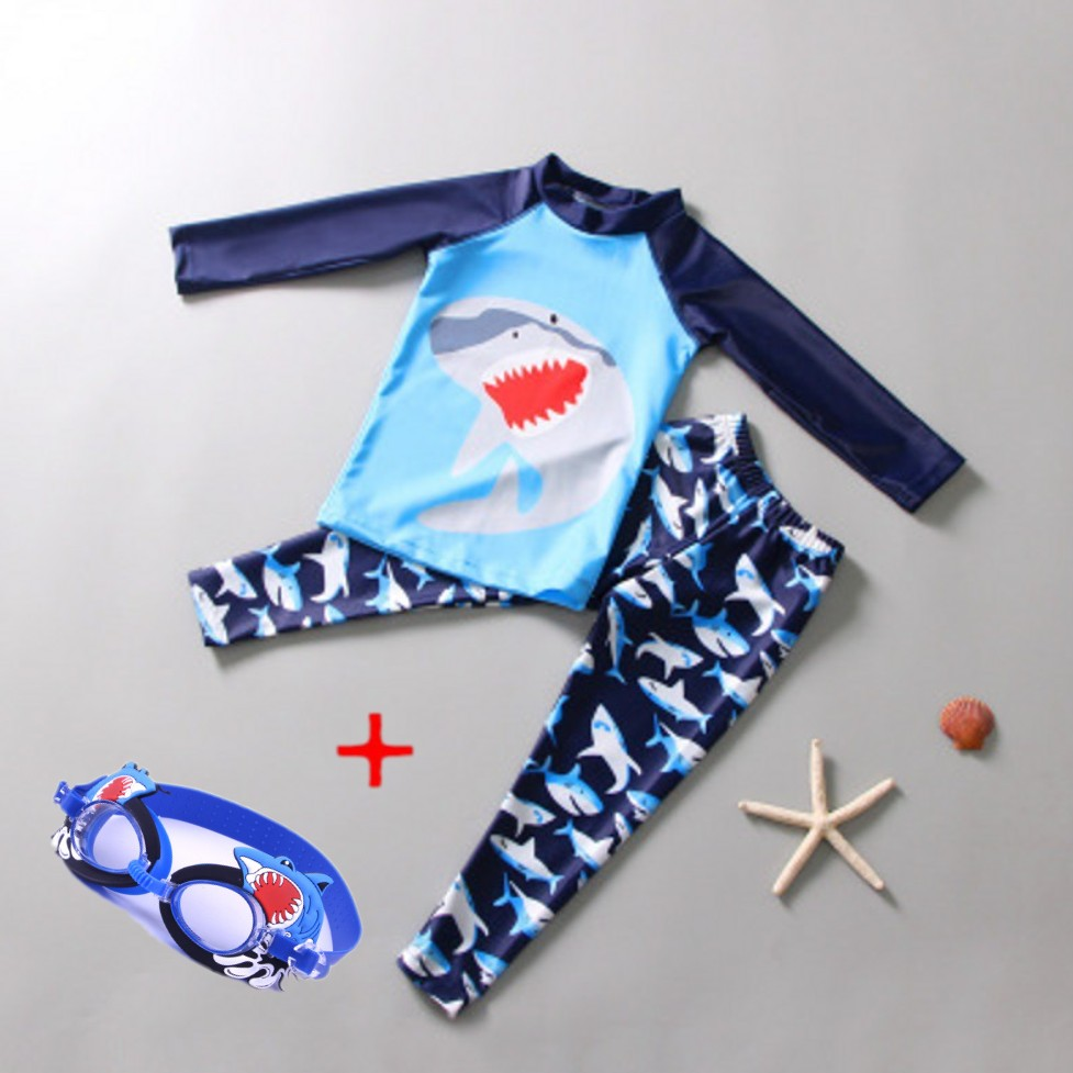 Swimwear Big Boys Teenagers Swimsuit Toddlers Surf Bathing Suit Two Pieces Swim Sunscreen UV Protection Beach Swimming Set Suit