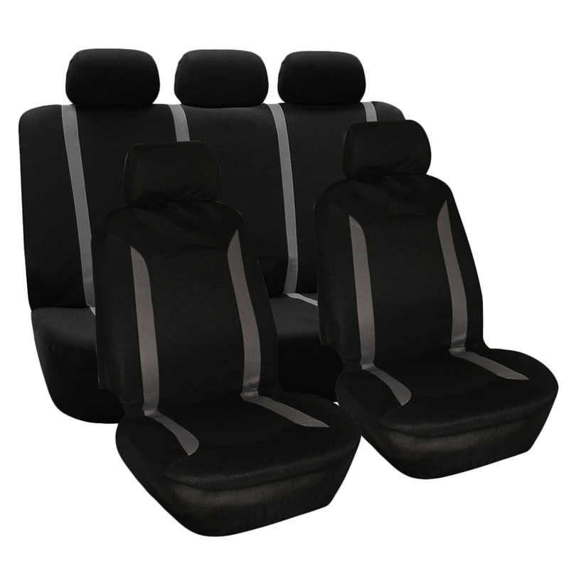 Universal 10Pcs/Set Washable Car Seat Cover Protector with Steering Wheel Cover|Seat Supports| |  - title=