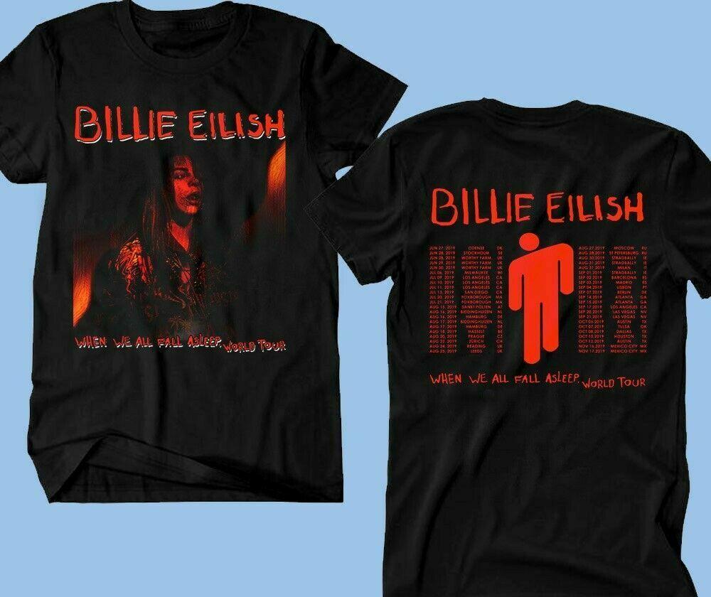 Billie Eilish T-Shirt, When We All Fall Asleep World Tour 2019 Leg 5-7 Concert