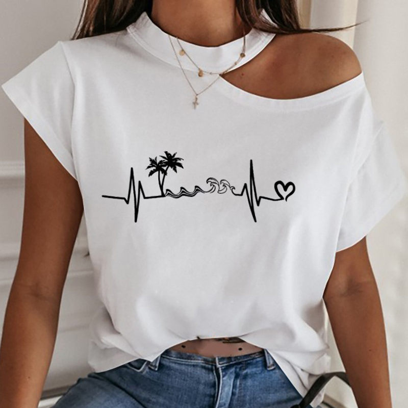 Casual Women Off Shoulder Blouse Shirt Sexy Hollow Out Halter Solid Shirts Summer Elegant Short Sleeve Tops Blusa Streetwear XXL