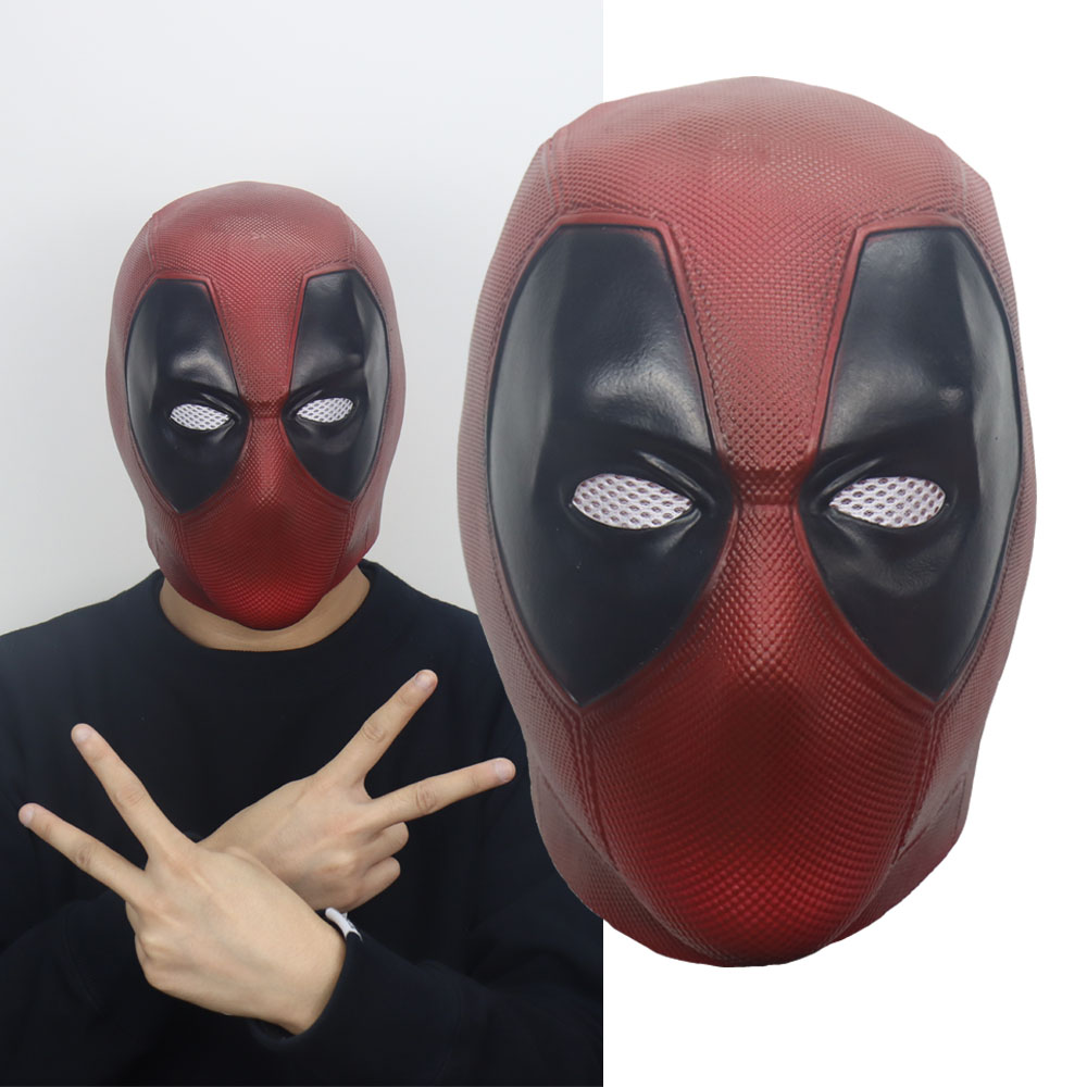 Deadpool Mask Cosplay Halloween Party Masks X-Men Latex Mask Costume Handmade