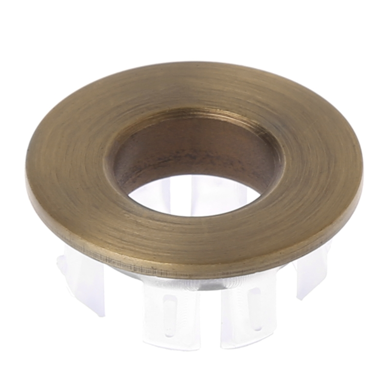Bathroom Basin Faucet Sink Overflow Cover Brass Six-foot Ring Insert Replacement L69A