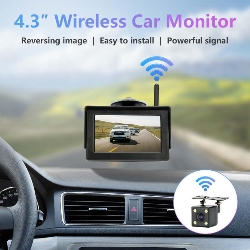 Image 2 - Jansite Reverse Camera Wireless 4.3'' Car Monitor Rear View Backup Camera Night Vision for RV Pickup Minivan Parking Assistance-in Vehicle Camera from Automobiles & Motorcycles