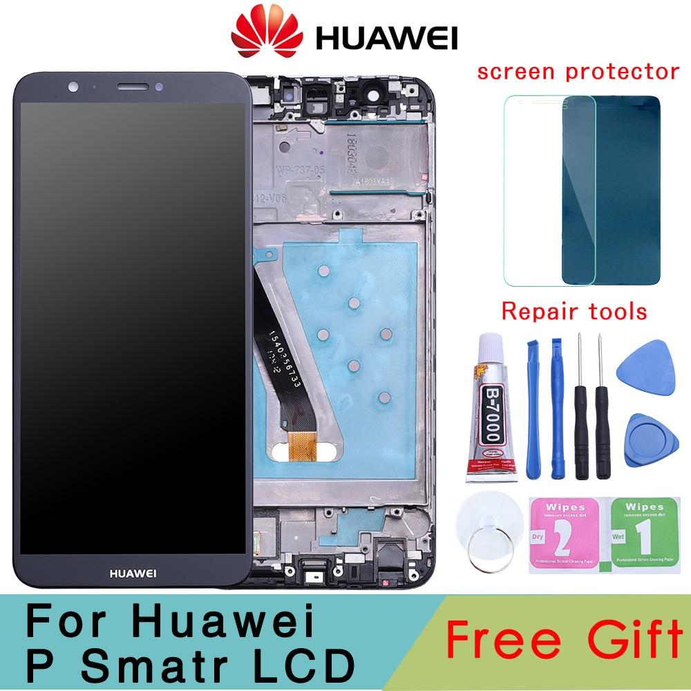 Оригинальный ЖК-дисплей 5,65 дюйма для HUAWEI P Smart, сенсорный экран с заменой рамки для HUAWEI P Smart / Enjoy 7S FIG LX1 L21 L22