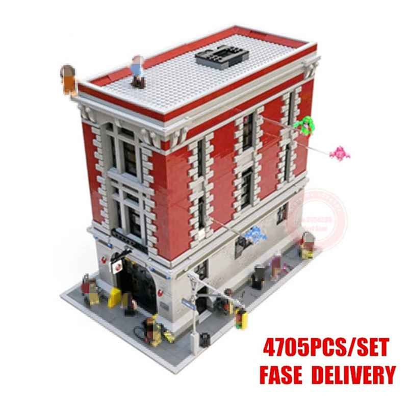 New Ghostbusters Firehouse Headquarters fit city figures Ghostbusters 75827 Building block bricks Model Toys kid gift