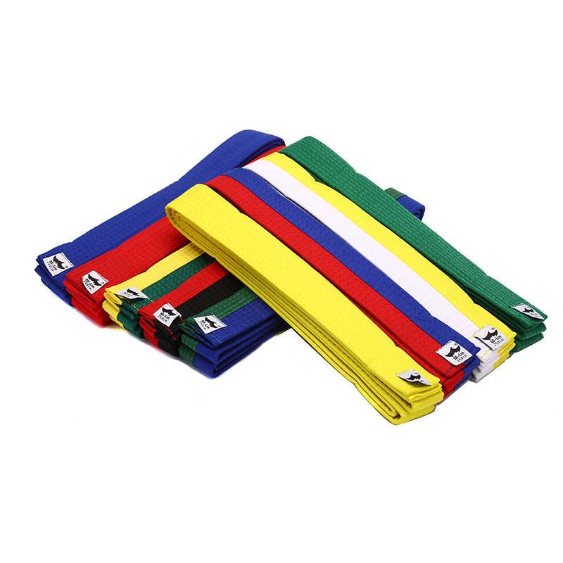 250cm * 4cm Polyester + EVA Nach Dem Zufall Karate Judo Martial Taekwondo Gürtel Schwarz, Rot, Grün, gelb Etc. für Erwachsene, Kinder Bund