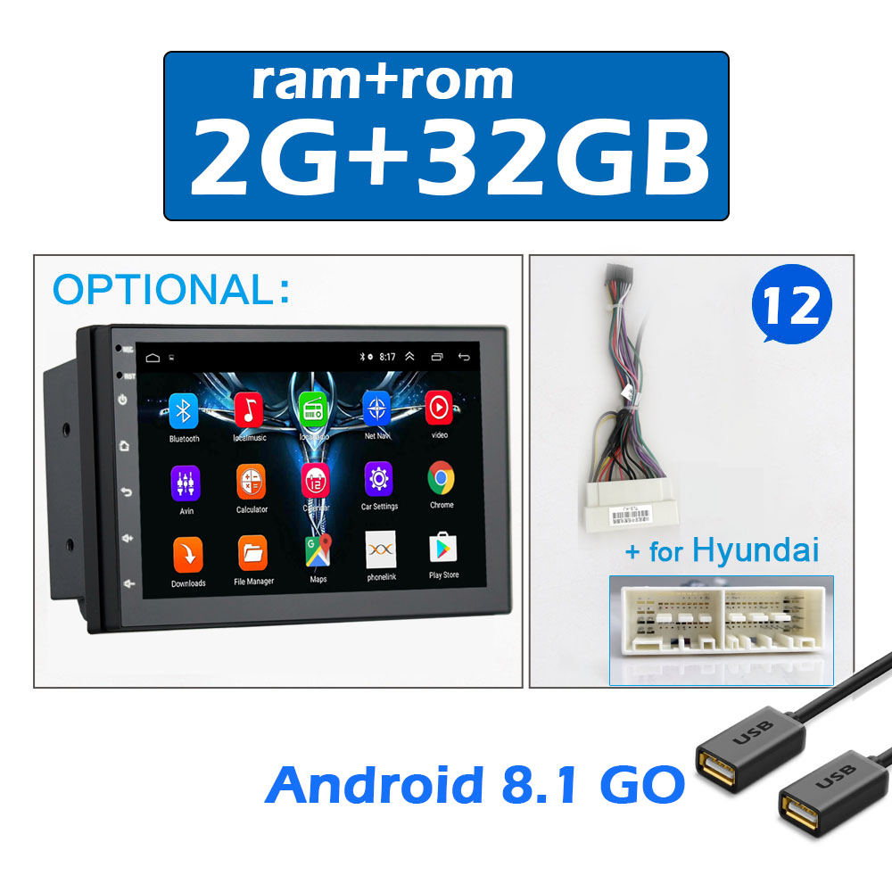 2 din CAR ANDROID 7 -12