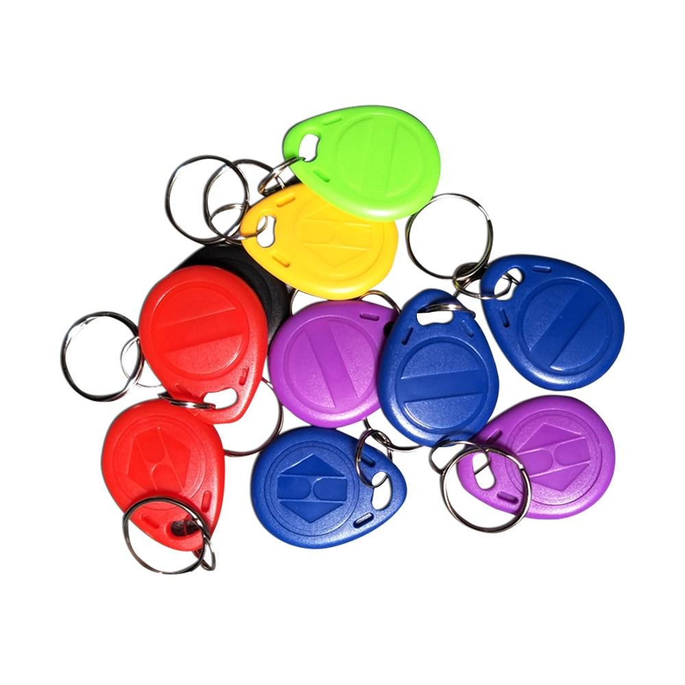 (10PCS/LOT) EM4305 125khz Programmable RFID Smart Tags Rewritable Keys Number2 Keyfobs
