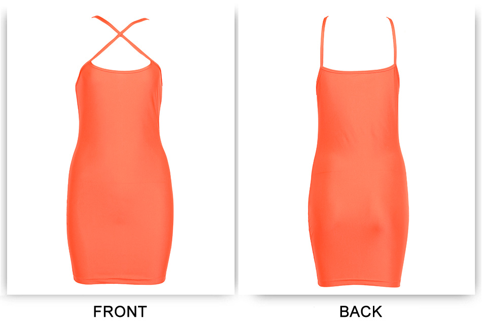 New Orange Neon Bodycon Kylie Jenner Casual Mini Party Night Summer Dress - kylie-jenner-outfits