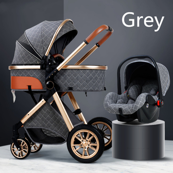 Multi-functional 2 in 1 Baby Stroller High landscape Can Sit Reclining Light Folding Two-way Eggshell design Baby Stroller цена 2017