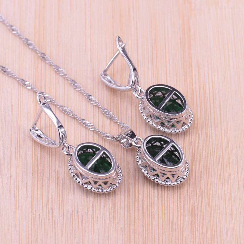 Promotion Valuable Queen Temperament Luxury Genuine Silver Color Jewelry Set Top Quality AAA+ Crystal