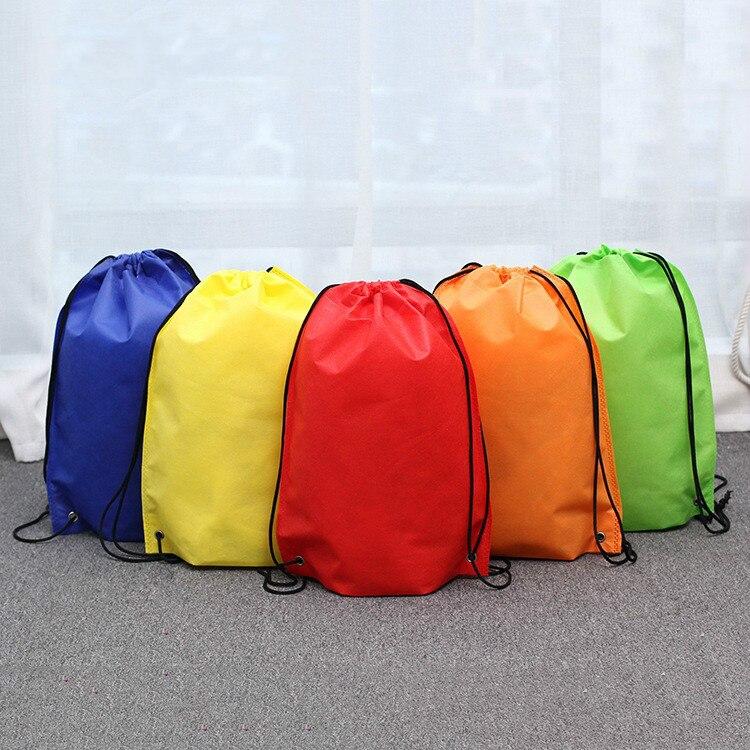 New Non-woven Pockets Hot Sale Beam Drawstring Bag Drawstring Shoulder Bag Home Bag Travel Storage Bag