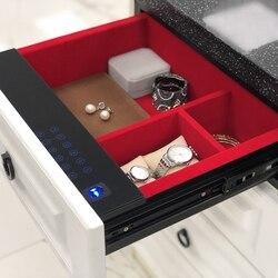 صندوق مجوهرات مجوهرات تلقي كلمة السر درج المنزل الآمن مكتب إلكتروني صغير غير مرئية متعددة الوظائف المحمولة هدية