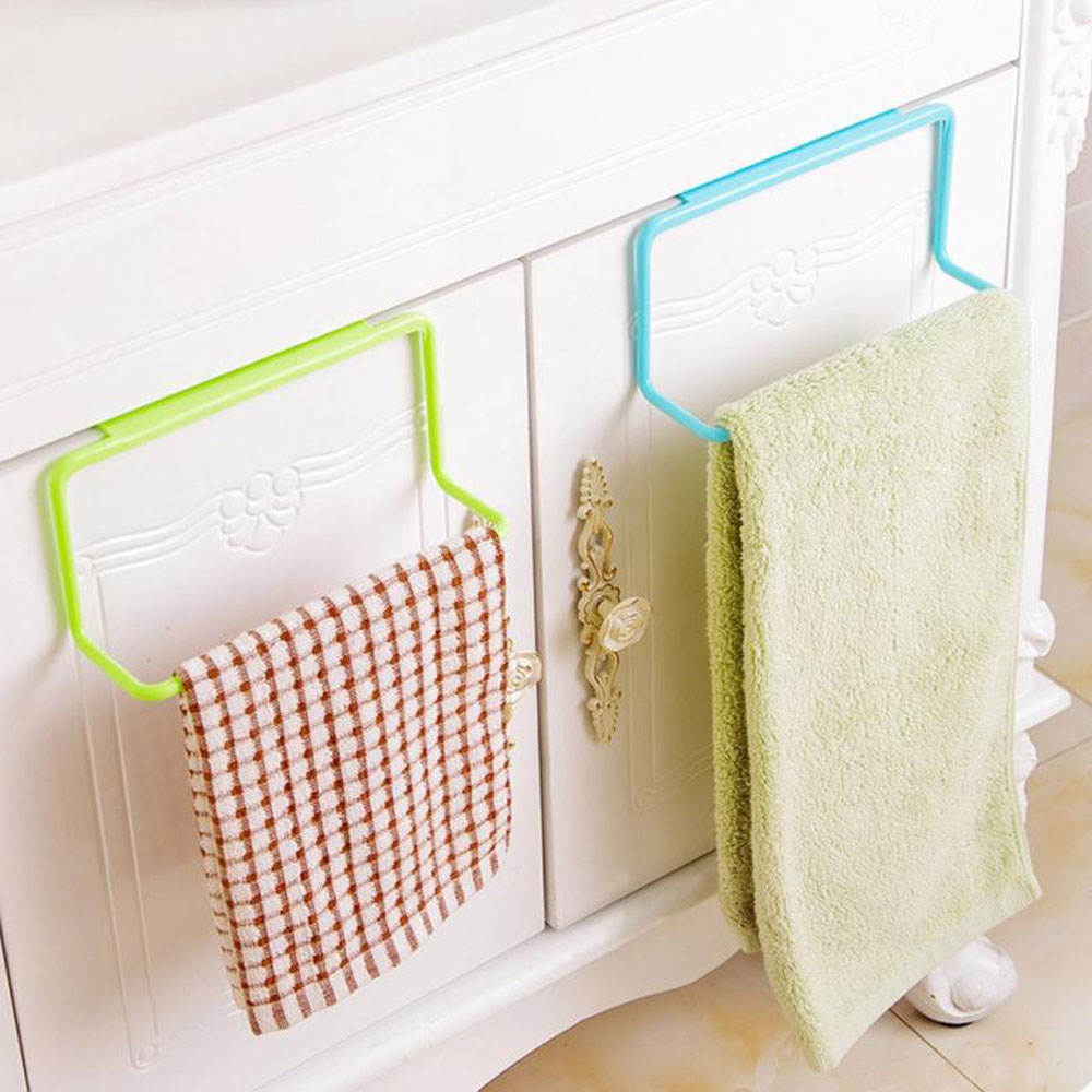Kitchen Drying Rack Organizer Towel Rack Hanging Holder Bathroom Cabinet Cupboard Hanger Shelf for Kitchen Supplies Accessories