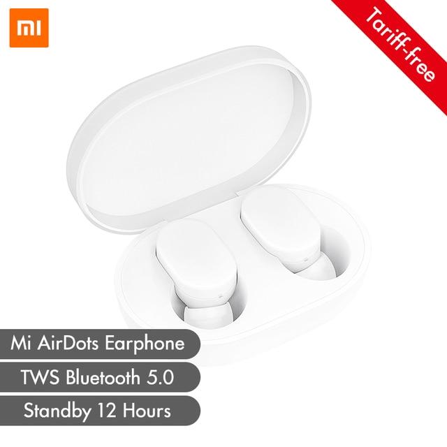 Xiaomi mi AirDots TWS słuchawki Bluetooth bezprzewodowe słuchawki douszne słuchawki douszne z mikrofonem i ładowarką wersja młodzieżowa