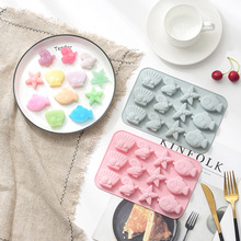 Creative marine life starfish shell fish silicone cake mould Handmade soap mould chocolate mould premier housewares 6 starfish cake pop silicone mould red
