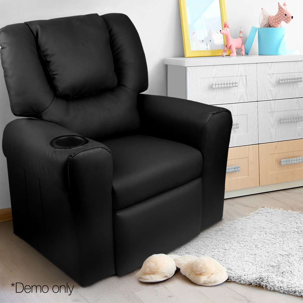 Artiss Kids PU Leather Reclining Armchair Executive Chair Ergonomic Chair Seat Chairs Household Armchair Leisure Chair|  - title=