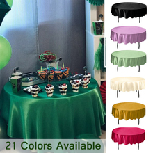 Tablecloth Round Hotel Wedding-Party Banquet-Decor Christmas Solid Satin for Restaurant