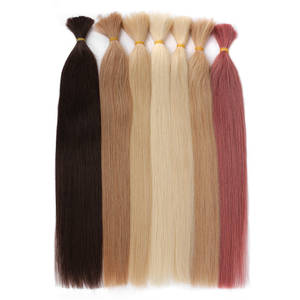 Human-Hair Braiding-Bundles Remy Silky Bulk Straight for 100g No-Wefts 18-To 26inch Russia