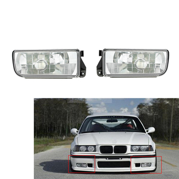 Fog Light For BMW E36 3 Series 1992~1998 Auto Fog Lamp Car Front Bumper Grille Driving Lamps Fog Lights Set Kit without Bulbs image