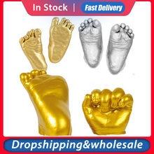 Детская 3D форма для рисования рук и ног, порошковый пластырь, набор для литья, отпечаток пальцев, сувенир, памятный подарок для роста ребенка