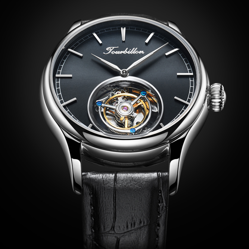 Original Tourbillon Watch mechanical  watch GUANQIN Skeleton Luxury clock men Sapphire Mens Watches Top Brand  Relogio Masculino 1