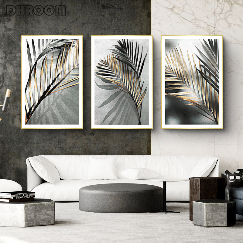 Ins Style Plant Decorative Painting Leaf Wall Art Nordic Posters and Prints Black White Wall Pictures for Living Room Home Decor