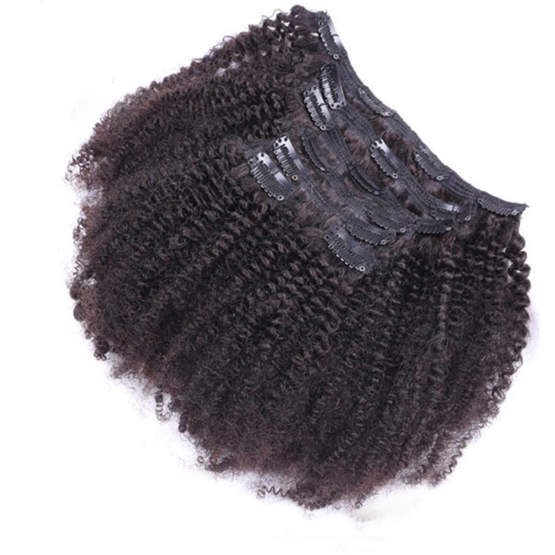afro curly clips in hair
