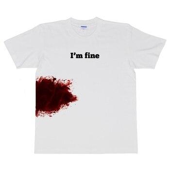 Hillbilly New Fashion Men's T-shirts Cotton Short Sleeve Summer Tee shirts 2018 White I'm Fine Funny Tshirts Man Gift Clothing 1
