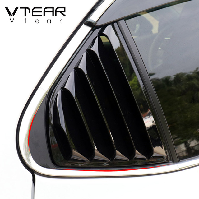 Vtear For Toyota Camry Rear window triangle ABS decoration car-styling cover exterior frame chrome accessories Trim parts 2020 5