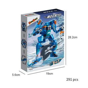 Image 3 - BanBao Robot Transformer Speedboat 2 in 1 Building Blocks Creative Educational Bricks Model Toys Kids Children Gift 6318