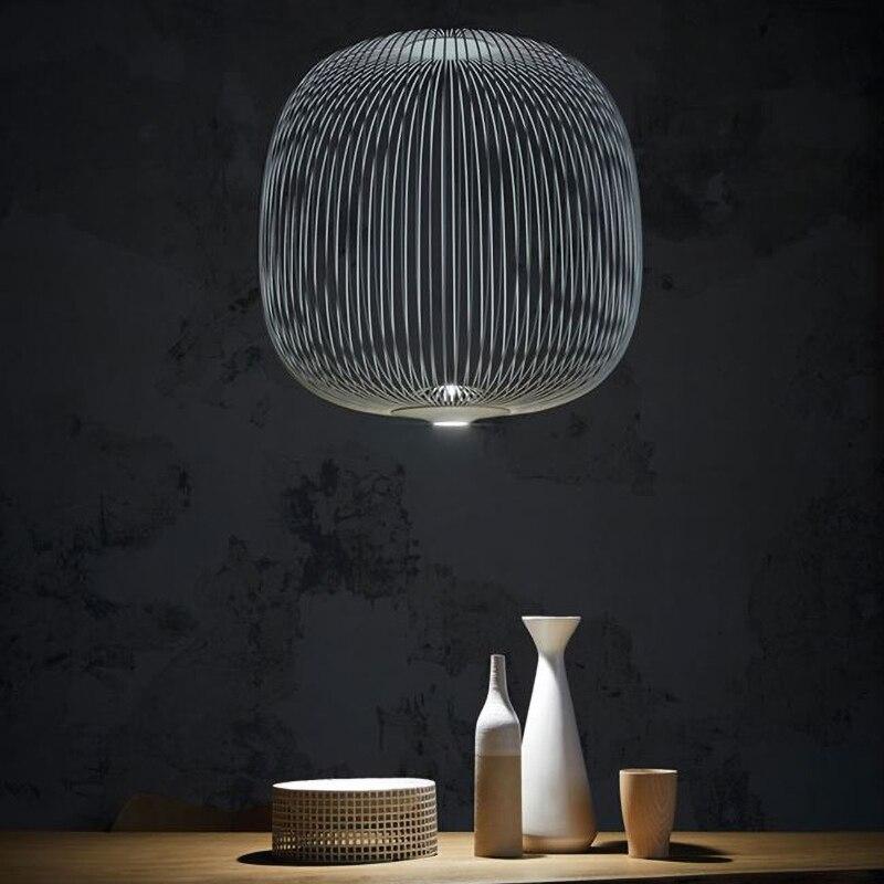 Raios 1/2 luzes Pingente Foscarini Modern LED Hanglamp LOFT Industrial Gaiola de Pássaro lustre Suspensão Luminárias Sala De Jantar Decoração - 5