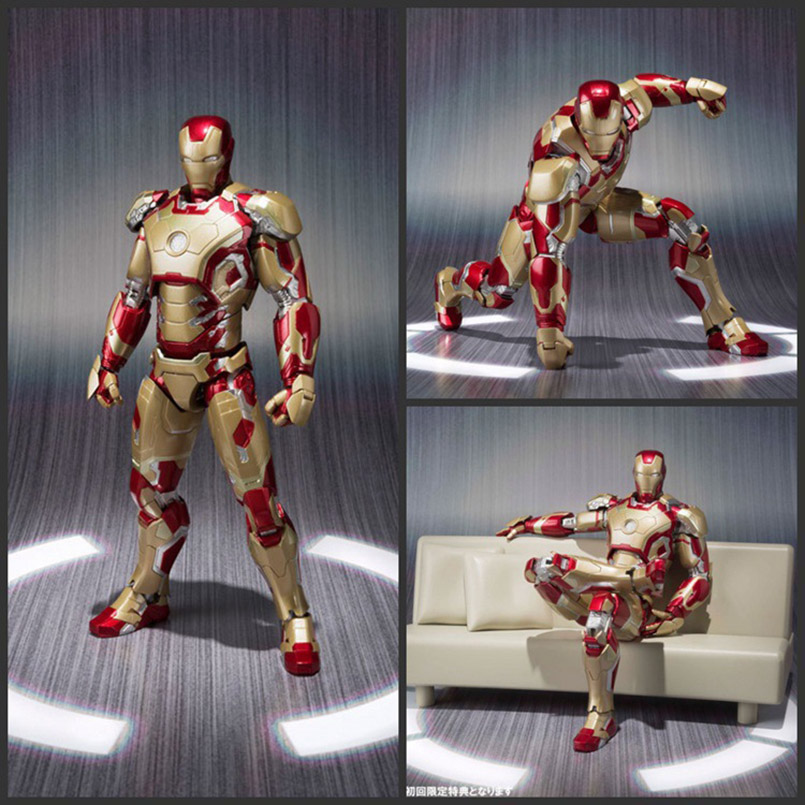 Apaffa 15cm Avengers Figma Iron Man Mark 42 With Sofa PVC Action Figure Toy Iron Man Mark 42 Collectible Model Toys For Children