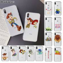 Maiyaca Owboy Woody Buzz Lightyear Toy Story Dicat Indah Ponsel Case untuk Apple iPhone 11 Pro 8 7 66S plus X XS Max 5S SE XR(China)