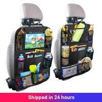 Organizador de asiento trasero de coche para niños, Protector de cubierta de asiento trasero con pantalla táctil, soporte para tableta, alfombrillas de patada con bolsillo para juguetes, 1 unidad