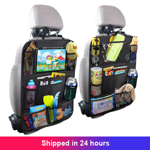 1PC Car Back Seat Organizer Kids Car Backseat Cover Protector with Touch Screen Tablet Holder Kick Mats with Pocket for Toys