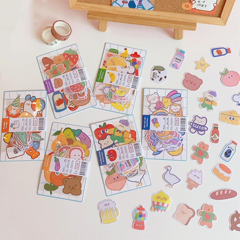 MINKYS Kawaii Sugar Bear Series Scrapbooking Bullet Sticker For Journals Crafts DIY Diary Album Stic