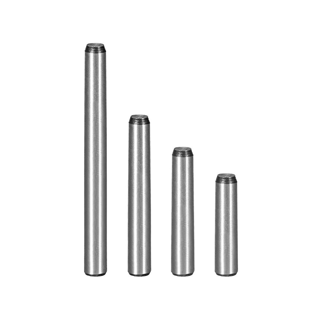 Uxcell 5Pcs 6mm Small End Diameter 1:50 Taper Pin Length 25/30/35/40/50/60/70/80mm Carbon Steel GB117